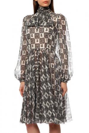 Платье DOLCE & GABBANA. Цвет: черный, белый