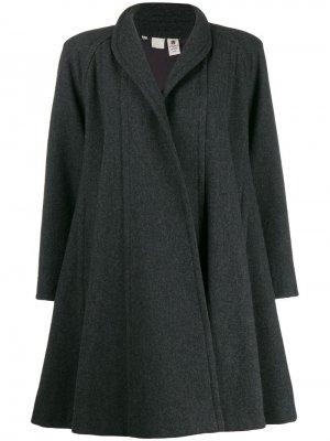 Пальто оверсайз 1980-х годов Emanuel Ungaro Pre-Owned. Цвет: серый