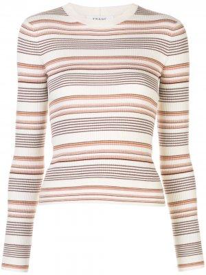 Пуловер в полоску FRAME. Цвет: белый