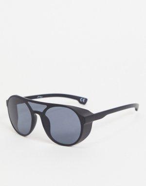 Мужские черные солнцезащитные очки-авиаторы -Черный Jeepers Peepers