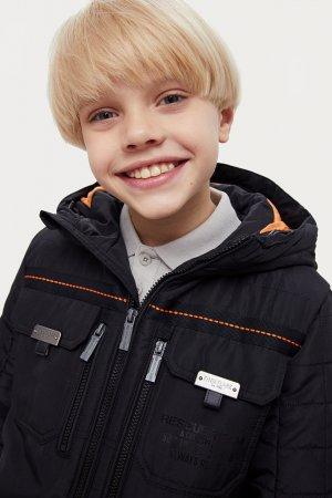 Куртка для мальчика Finn-Flare. Цвет: черный