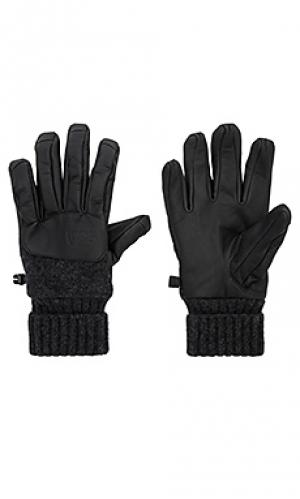 Перчатки cryos leather The North Face. Цвет: черный