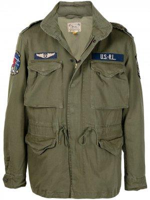 Куртка Herringbone Polo Ralph Lauren. Цвет: зеленый