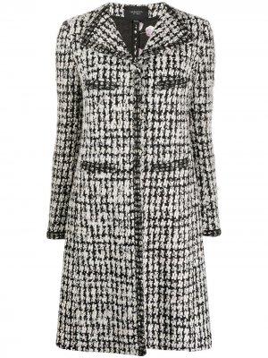 Твидовое пальто с длинными рукавами Giambattista Valli. Цвет: черный