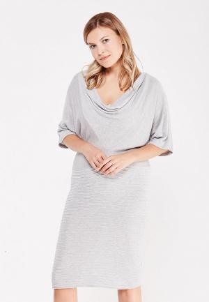 Платье LOST INK PLUS KNITTED DRESS WITH KIMONO SLEEVE. Цвет: серый