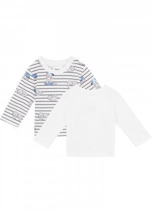 Лонгслив для малыша (2 шт.) bonprix. Цвет: серый