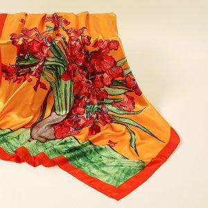 Бандана с цветочным принтом SHEIN. Цвет: многоцветный