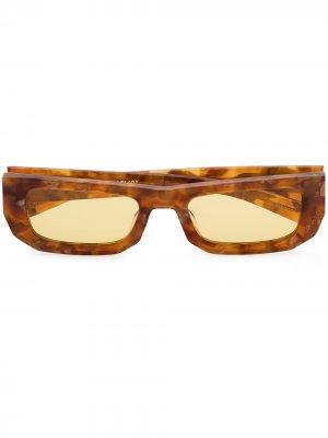 Солнцезащитные очки Bricktop в прямоугольной оправе FLATLIST. Цвет: коричневый