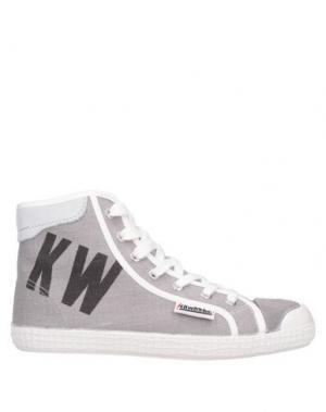 Высокие кеды и кроссовки KAWASAKI. Цвет: серый