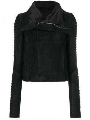 Классическая байкерская куртка Rick Owens. Цвет: черный