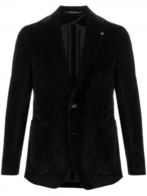 Fitted single breasted blazer Tagliatore. Цвет: черный