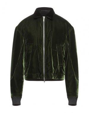 Куртка HAIDER ACKERMANN. Цвет: темно-зеленый