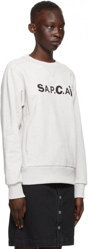Grey Sacai Edition Tani Sweatshirt A.P.C.. Цвет: plb grey