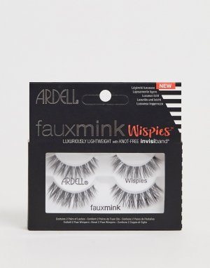 Набор из двух пар накладных ресниц Faux Mink Lashes Wispies-Черный Ardell