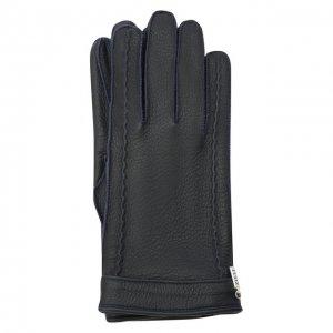 Кожаные перчатки Zilli. Цвет: синий