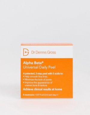 Набор из 5 салфеток для ежедневного пилинга Alpha Beta-Бесцветный Dr Dennis Gross