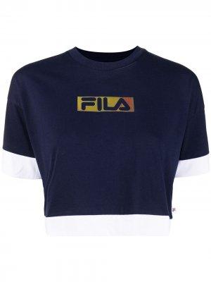 Футболка Fleur с логотипом Fila. Цвет: синий