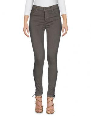 Джинсовые брюки HUDSON. Цвет: зеленый-милитари