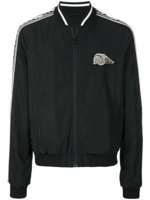 Куртка-бомбер с нашивкой в виде черепа Just Cavalli. Цвет: чёрный