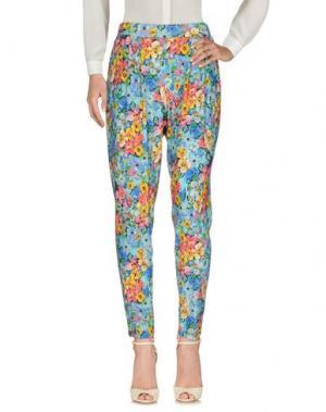Повседневные брюки FEMÌ. Цвет: лазурный