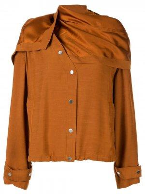 Куртка со съемным шарфом 3.1 Phillip Lim. Цвет: коричневый