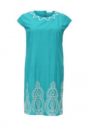 Платье Indiano Natural. Цвет: бирюзовый