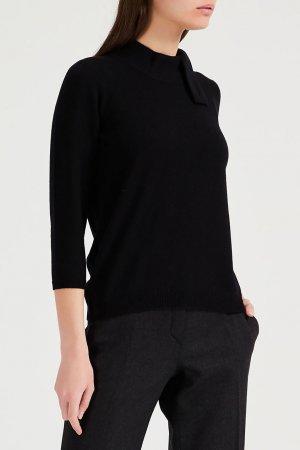 Черный пуловер из кашемира Amina Rubinacci