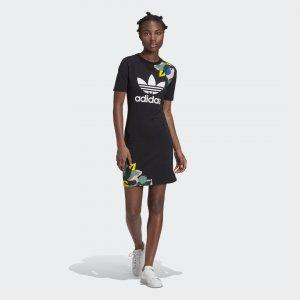 Платье-футболка Originals adidas. Цвет: черный