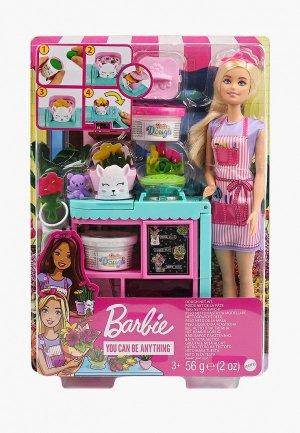 Набор игровой Barbie Кукла Барби Флорист с цветочным магазином. Цвет: разноцветный