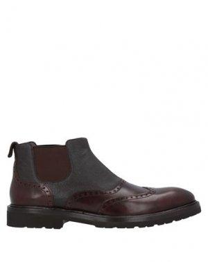 Полусапоги и высокие ботинки A.TESTONI. Цвет: темно-коричневый