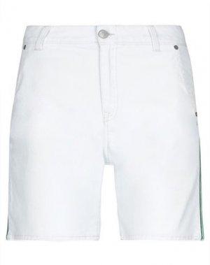 Джинсовые шорты CARE LABEL. Цвет: белый