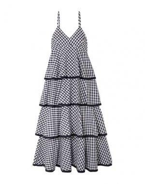 Платье длиной 3/4 J.CREW. Цвет: темно-синий