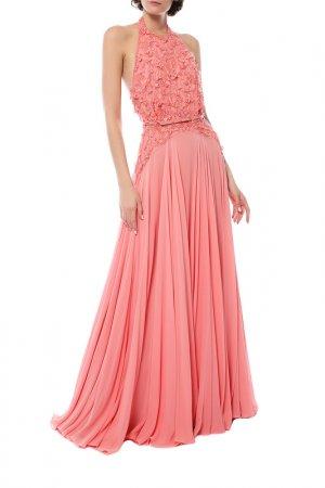 Платье Elie Saab. Цвет: розовый