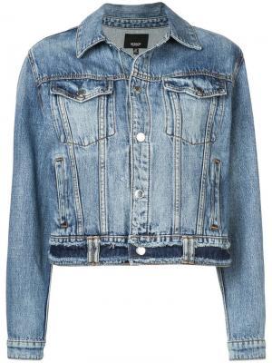Короткая джинсовая куртка Hudson. Цвет: черный
