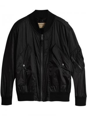 Легкая куртка-бомбер Burberry. Цвет: черный