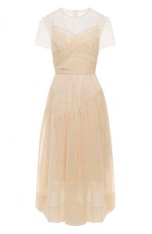 Платье-миди Simone Rocha. Цвет: бежевый