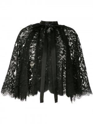 Кружевной кейп Dolce & Gabbana. Цвет: черный