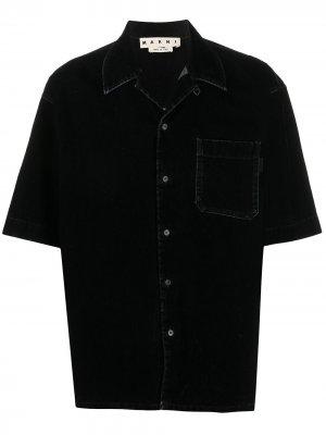 Джинсовая рубашка Marni. Цвет: черный