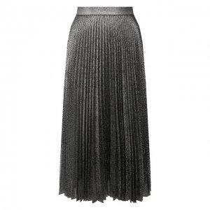 Плиссированная юбка Christopher Kane. Цвет: серебряный