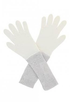 Перчатки FABIANA FILIPPI. Цвет: белый