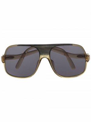 Солнцезащитные очки 1980-х годов Christian Dior. Цвет: зеленый