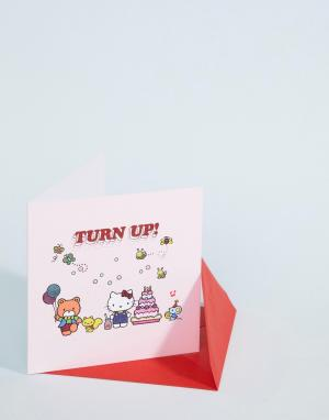 Открытка на день рождения Turn Up! Hello Kitty. Цвет: мульти