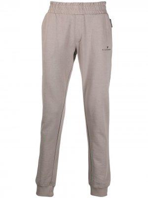 Спортивные брюки с логотипом John Richmond. Цвет: серый