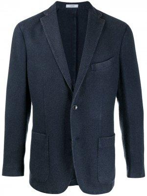 Однобортный кашемировый пиджак Boglioli. Цвет: синий