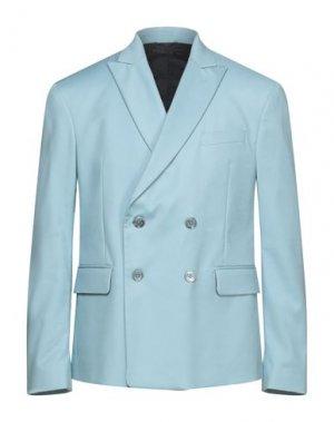Пиджак VERSACE COLLECTION. Цвет: небесно-голубой