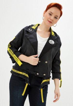 Куртка джинсовая Полное счастье. Цвет: черный