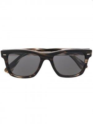 Солнцезащитные очки Oliver в квадратной оправе Peoples. Цвет: коричневый