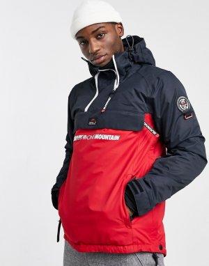 Горнолыжная куртка темно-синего/красного цвета Whiteroom 10K-10K-Темно-синий Surfanic