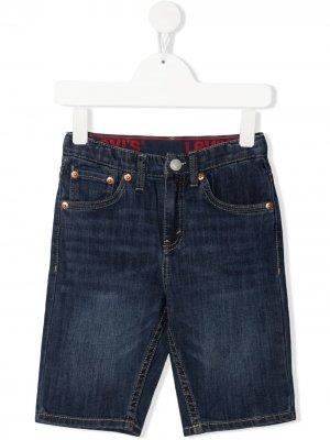 Levis Kids джинсовые шорты прямого кроя Levi's. Цвет: синий