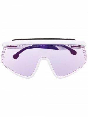 Солнцезащитные очки Hyperfit в безободковой оправе Carrera. Цвет: белый